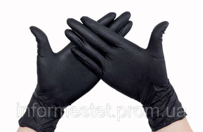 Перчатки SafeTouch Advanced BLACK M (буз пудры)