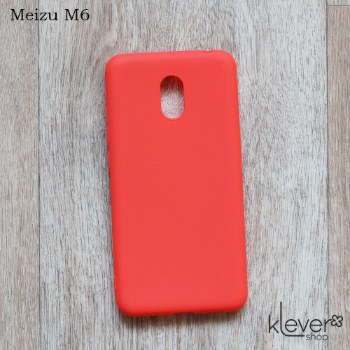 Силиконовый чехол накладка Candy для Meizu M6 (лососевый)
