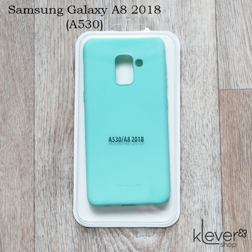 TPU чехол накладка Molan Cano Jelly Case для  Samsung Galaxy A8 2018 (A530) (бирюзовый)