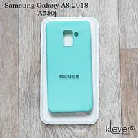 TPU чехол накладка Molan Cano Jelly Case для  Samsung Galaxy A8 2018 (A530) (бирюзовый), фото 1