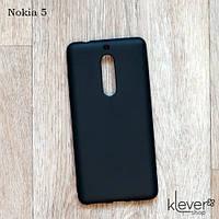 Ультратонкий силиконовый чехол Candy для Nokia 5 (черный)