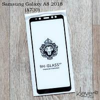 Защитное стекло 2,5D для Samsung Galaxy A8 Plus 2018 (a730) (black) (клеится всей поверхностью (5D))