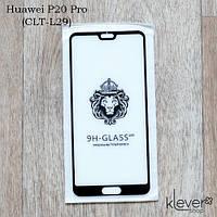 Защитное стекло 2,5D для Huawei P20 Pro (CLT-L29) (black) (клеится всей поверхностью (5D))