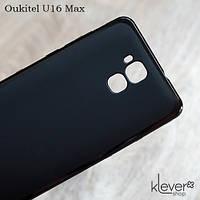 TPU чехол накладка для Oukitel U16 Max (черный)