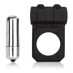 Эрекционное кольцо California Exotic Novelties Silicone Lovers Gear Enhancer Черное, КОД: 280290