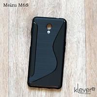 TPU чехол накладка S-line для Meizu M6S (черный)