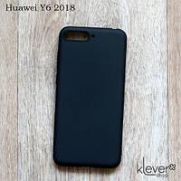 TPU чехол накладка для Huawei Y6 2018 (черный) (Есть потертости или непрокрашенные участки)