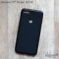 TPU чехол накладка для Huawei Y7 Prime 2018 (черный) (Есть потертости или непрокрашенные участки)