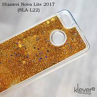 TPU чехол накладка Aquarium stars для Huawei Nova Lite 2017 (SLA-L22) (звездочки и золотые блестки)