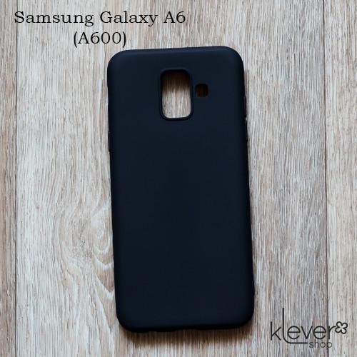 Силиконовый чехол накладка Candy для Samsung Galaxy A6 2018 (A600) (черный)