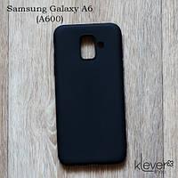 Силиконовый чехол накладка Candy для Samsung Galaxy A6 2018 (A600) (черный), фото 1