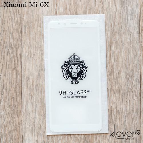 Защитное стекло 2,5D для Xiaomi Mi 6X (white) (клеится всей поверхностью (5D))