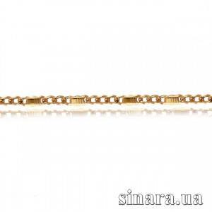 Золотая цепочка Фигаро с пластинами 1088