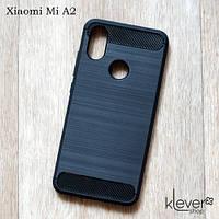 """TPU чехол накладка для Xiaomi Mi A2 (black """"Carbon"""")"""
