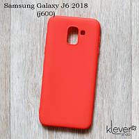 Силиконовый чехол Candy для Samsung Galaxy J6 2018 (J600) (лососевый), фото 1