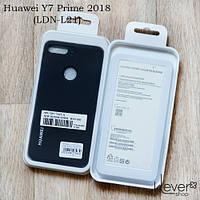 TPU чехол накладка Silicone Cover для Huawei Y7 Prime 2018 (LDN-L21) (черный)