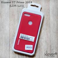 TPU чехол накладка Silicone Cover для Huawei Y7 Prime 2018 (LDN-L21) (красный)