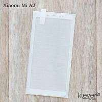 Защитное стекло 2,5D для Xiaomi Mi A2 (white silk)