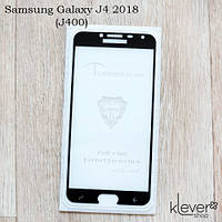 Защитное стекло Mietubl 2,5D Full Glue для Samsung Galaxy J4 2018 (j400) (black) (клеится всей поверхностью)