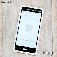 Защитное стекло Mietubl 2,5D Full Glue для Nokia 8 (black) (клеится всей поверхностью (5D))