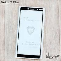 Защитное стекло Mietubl 2,5D Full Glue для Nokia 7 Plus (black) (клеится всей поверхностью (5D))