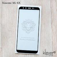 Защитное стекло 2,5D Full Glue для Xiaomi Mi 6X (black) (клеится всей поверхностью (5D))