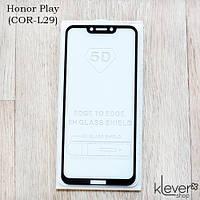 Защитное стекло 2,5D Full Glue для Honor Play (COR-L29) (черный) (клеится всей поверхностью (5D))