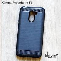 "TPU чехол накладка для Xiaomi Pocophone F1 (black ""Carbon"")"