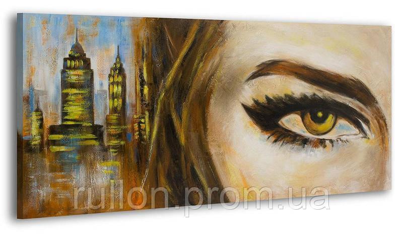 """Картина на холсте YS-Art RRH167 """"Женщина на фоне города"""" 50x100"""