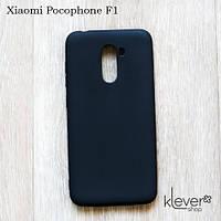 Силиконовый чехол накладка Candy для Xiaomi Pocophone F1 (черный)