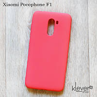 Силиконовый чехол накладка Candy для Xiaomi Pocophone F1 (коралловый)