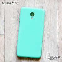 Ультратонкий силиконовый чехол Candy для Meizu M6S (мятный)
