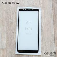 Защитное стекло Full Glue для Xiaomi Mi A2 (black) (загнутые углы, полный клей (5D))
