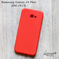 Ультратонкий силиконовый чехол-накладка для Samsung Galaxy J4 Plus (SM-J415) (коралловый)