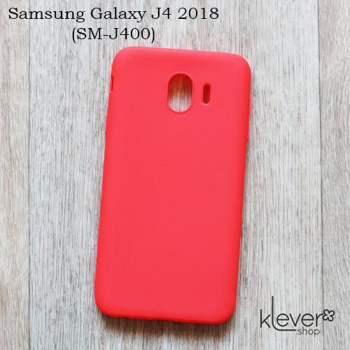 Силиконовый чехол Candy для Samsung Galaxy J4 2018 (J400) (коралловый)