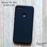 Ультратонкий силиконовый чехол накладка Candy для Honor 7C Pro (LND-L29) (черный), фото 1