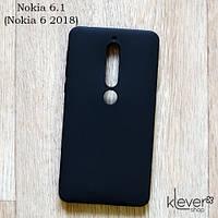 Ультратонкий силиконовый чехол-накладка Candy для Nokia 6 2018 (Nokia 6.1) (черный)