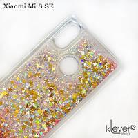 TPU чехол накладка Aquarium для Xiaomi Mi 8 SE (звездочки и розовые блестки)