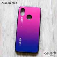 TPU чехол накладка Fashion ombre для Xiaomi Mi 8 (синий с розовым)
