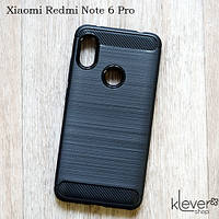 "TPU чехол накладка для Xiaomi Redmi Note 6 Pro (black ""Carbon""), фото 1"