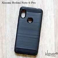 "TPU чехол накладка для Xiaomi Redmi Note 6 Pro (black ""Carbon"")"