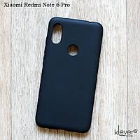 Ультратонкий силиконовый чехол накладка Candy для Xiaomi Redmi Note 6 Pro (черный)