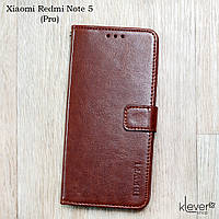 Винтажный чехол-книжка с магнитной застежкой для Xiaomi Redmi Note 5 (коричневый)