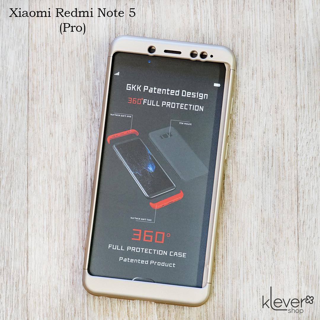 Матовый чехол GKK для Xiaomi Redmi Note 5 (золотой)