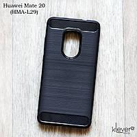 "TPU чехол накладка для Huawei Mate 20 (HMA-L29) (black ""Carbon"")"