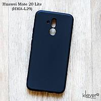 Ультратонкий силиконовый чехол Candy для Huawei Mate 20 Lite (SNE-LX1) (черный)