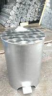 Контейнер бак для мусора 25л. из нержавеющей стали, держатели мусорных пакетов, фото 1