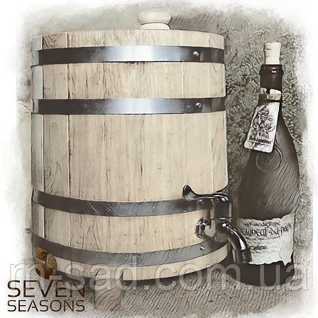 Вертикальный дубовый жбан (бочка) для напитков Seven Seasons™, 20 литров, Пластик, фото 2