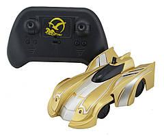 Радиоуправляемая игрушка CLIMBER WALL RACER 1601C Антигравитационная машинка на р/у Gold