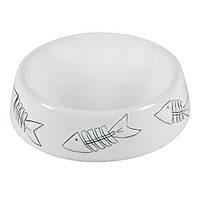 Миска для кошек и собак керамическая 300мл